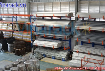 Light Duty Cantilever Rack Contain Steel Pipe.